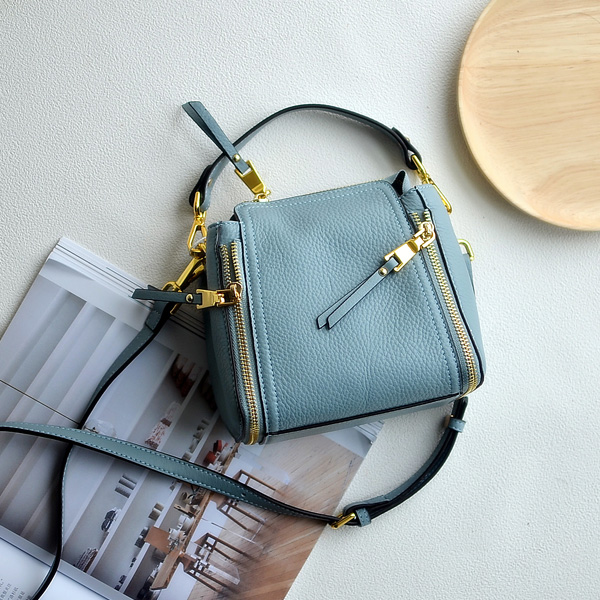 Fashion leather bucket bag into a layer of soft leather all match oral elegant portable shoulder