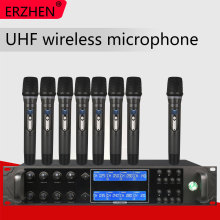 Wireless Microphone 9000GTA8 UHF 8 Channel Wireless Dynamic Microphone Family Capsule Portion Balanced + Unbalanced Wireless Out все цены