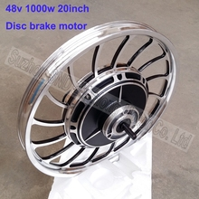 Customized 48v 60V 72v 1000W electric bike brushless hub motor 20inch disc brake powerful e-scooter motor  G-M156