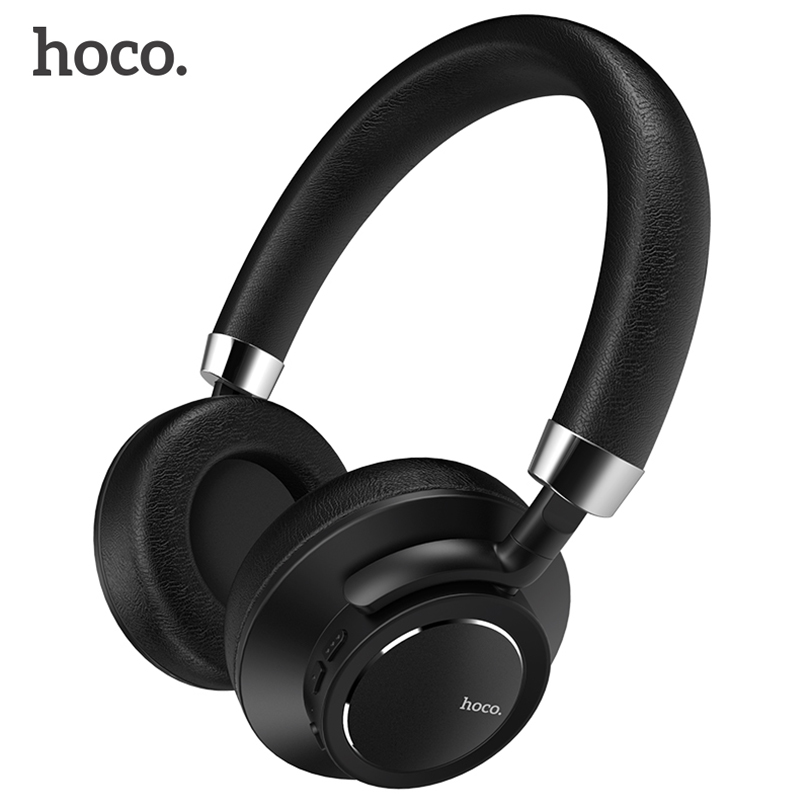 HOCO HiFi Wireless Bluetooth Headphones Foldable Over-ear Stereo Deep Bass Headset with Mic Noise cancelling for Phone PC TV foldable on ear wireless stereo bluetooth headphones headset supports fm