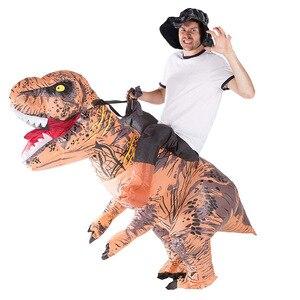 Image 5 - Costume gonflable de Jurassic World, mascotte de dinosaure, dessin animé, pour Thanksgiving, pour enfants et adultes, spectacle de fête, pour noël, T REX