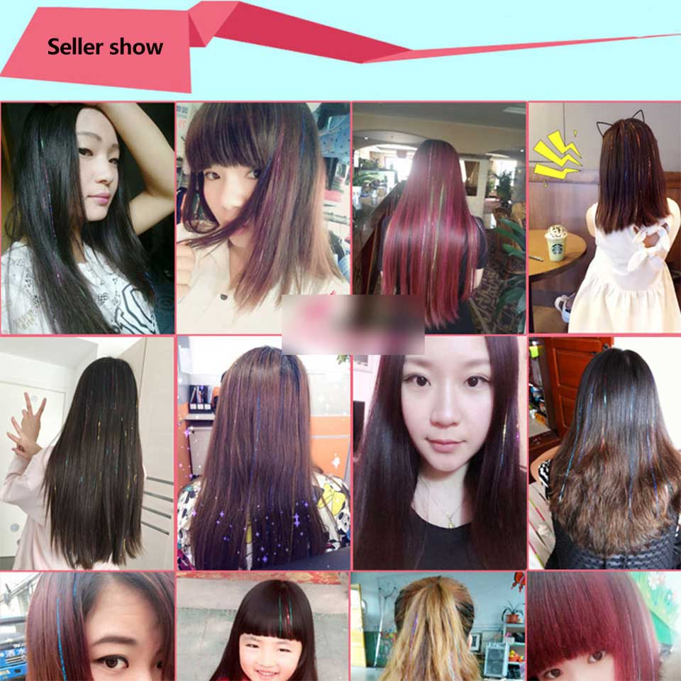 Difei Colored Party Highlights Clip On In Hair Extensions Multi