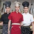 (5 con un 10% de descuento, 10 obtener delantal gratis) Hombre/mujer de manga corta uniforme del cocinero desgaste camarero restaurante cafetería panadería camisa