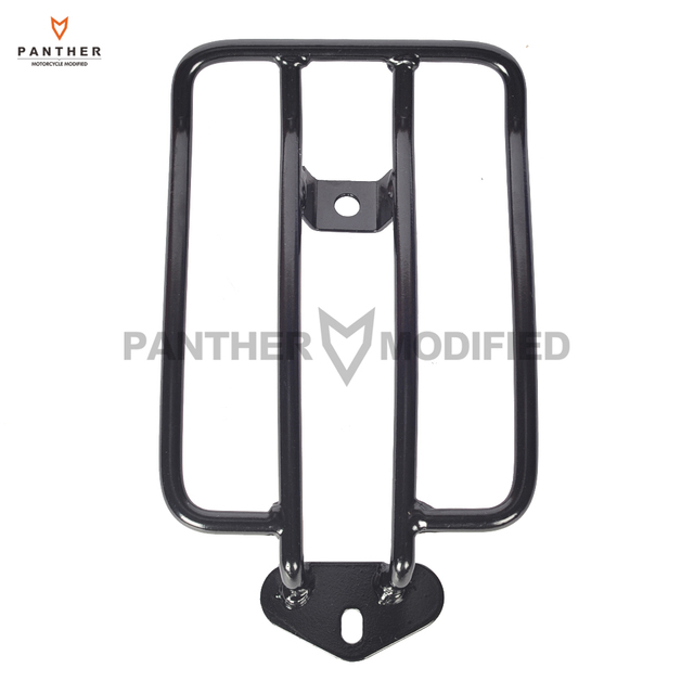Black Motorcycle Solo Seat Luggage Shelf Frame Rack Case for Harley ...