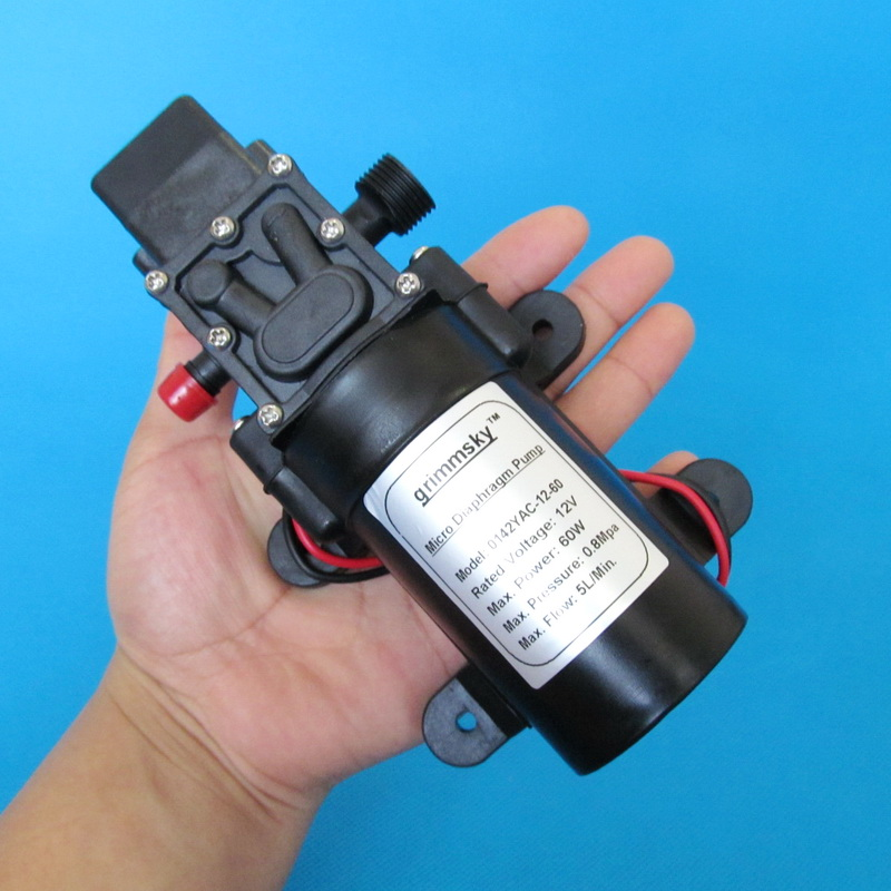 5L Min DC12V 60W micro diaphragm water pump automatic switch in Pumps from Home Improvement