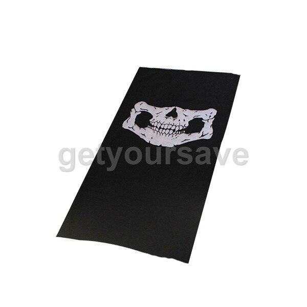 Бесшовная наружная универсальная маска для автомобиля на Хэллоуин, маска с черепом, теплая Волшебная тюрбан, Ветрозащитная маска для езды, Солнцезащитная маска с капюшоном и воротником