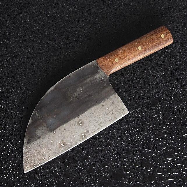 SHUOJI couteau de cuisine professionnel 7 pouces lame tranchante couteau de Chef 5Cr15 couteau de cuisine en acier inoxydable 58HRC outil de couperet