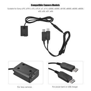 Image 5 - Andoerデュアルusb電源キットacアダプタの交換用np fw50 dcカプラーダミーバッテリー完全にデコード用ソニーシリーズカメラ