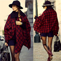 New Style Hot Sale Red Pashmina Cashmere Acrylic Plaid Blanket Scarf Women Trendy Warm Winter Bandana Shawl