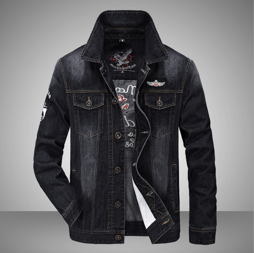 65ecdb70ea US $43.38 19% di SCONTO LONMMY 4XL Jeans giacca da uomo In Cotone 66%  giacca di Jeans cappotti da uomo Air force 1 Casual Tuta Sportiva cowboy ...