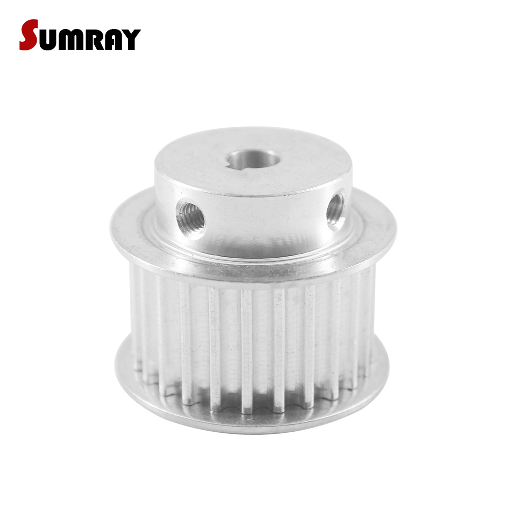 SUMRAY 5M 25T Keyway Timing Pulley 8/10/12/14/15mm bore keyway diameter 4/5mm 16/21mm width Motor Pulley for Engraving MachineSUMRAY 5M 25T Keyway Timing Pulley 8/10/12/14/15mm bore keyway diameter 4/5mm 16/21mm width Motor Pulley for Engraving Machine