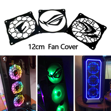 2pcs/lot DIY 12cm*12cm Fan Cover Acrylic Cover use for 120mm Radiator 120mm Fan with Cool Logo for Computer Case Cooling