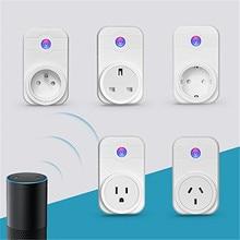 High Quality EU UK US AU Standard White Wifi Smart Plug Power Socket App Wireless Remote Control Wall Plug For IOS Andriod
