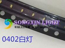 3000 stücke 0402 1005 1,0X0,5mm weiß licht SMD LED Lampe SMD licht emittierende diode 6000 8000K 0402 weiß