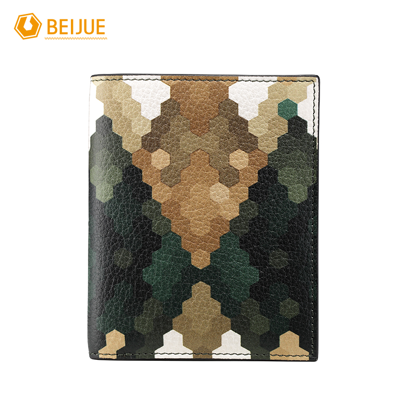 BEIJUE High Quality Fashion Brand Desige font b Wallet b font Genuine Leather Camouflage Green Thin
