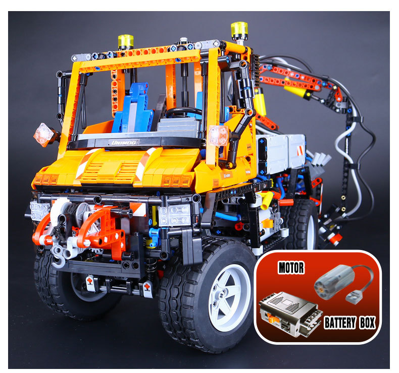 2017 New LEPIN 20019 Technic Truck Unimog U400 Model Building Kits Blocks Bricks Compatible Toys 8110 Lovely Gifts Toys 2017 new lepin 20009 1977pcs technic claas xerion 5000 trac vc model building kits blocks bricks compatible toys gift with 42054