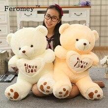 Большой размер я люблю тебя плюшевый медведь большой плюшевый Кукла игрушка держа любовь сердце, мишка тедди мягкая тряпичная кукла в подарок для девушки
