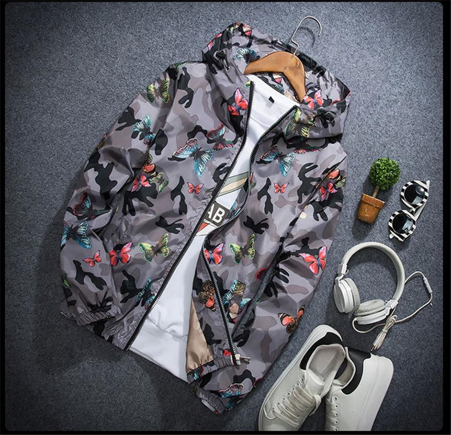HTB1vCPEKaSWBuNjSsrbq6y0mVXaj Mens Casual Camouflage Hoodie Jacket 2018 New Autumn Butterfly Print Clothes Men's Hooded Windbreaker Coat Male Outwear WS505