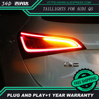 Car Styling taillight tail lights for Audi Q5 2009 2015 LED Tail Lamp rear trunk lamp cover drl+signal+brake+reverse taillights