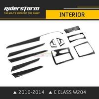 Интерьер автомобиля ткань углеродного волокна интерьера для Benz C Class W204 седан укладки планки украшения 2010 2014 хорошо применимость