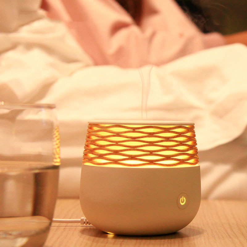 30ML Capacity Bedroom Wooden Rattan Aromatherapy Machine Beautiful Decoration Humidifier Mist Maker Desktop Mist Fogger Diffuser