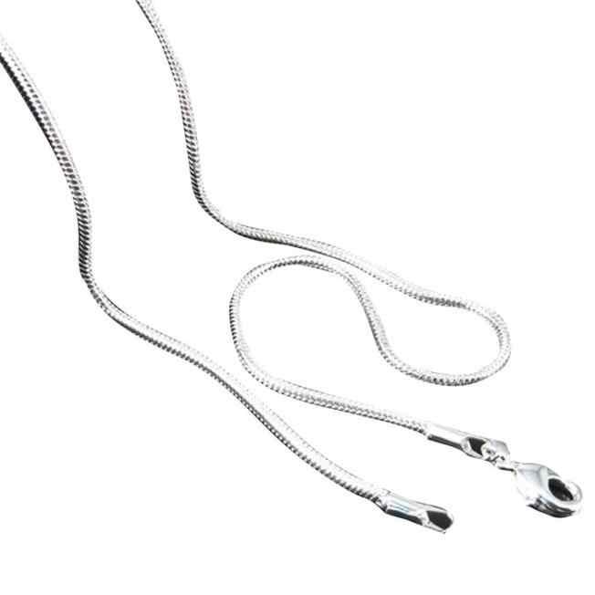 Kiểu dáng thời trang Trang Sức 1/10 cái giá Sỉ Nóng Mũ Nam Nữ Bán Trang Sức Bạc Dây Chuyền chuỗi 16-30 inch joyas de plata 925