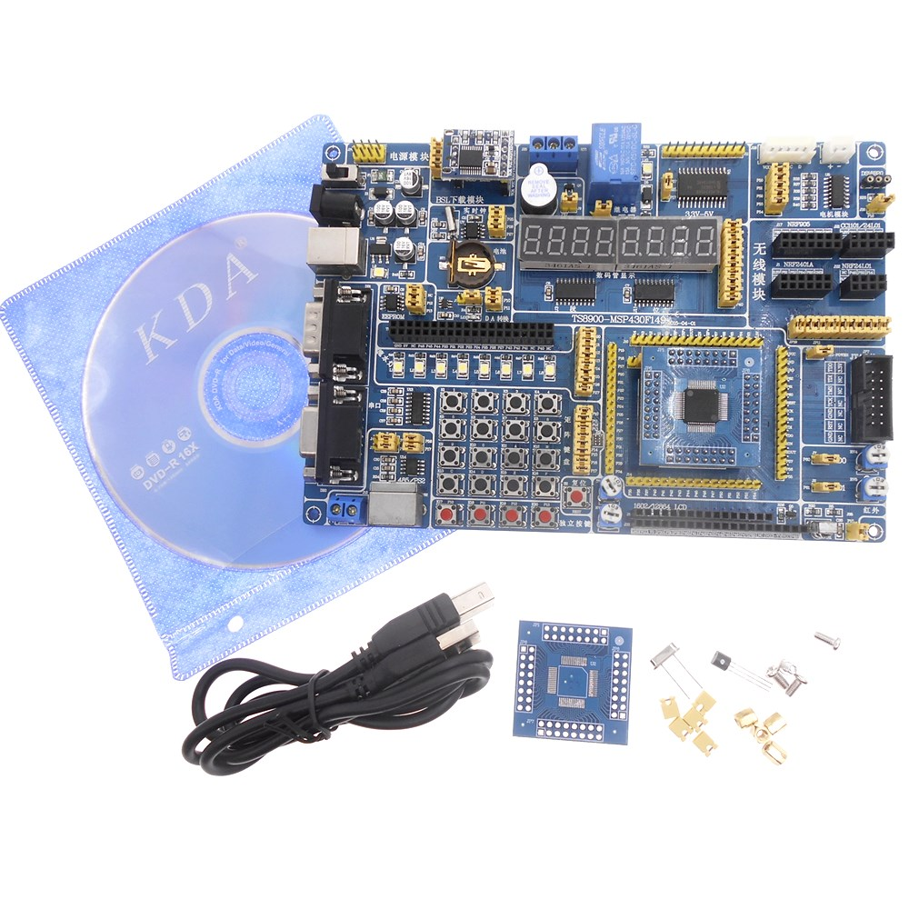 MSP430F149 MCU development board MSP430 development board Onboard USB type downloader