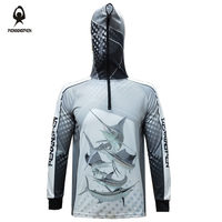 RENXINGREN Hood Zip Fishing Clothing Breathable Anti UV Quick drying Fabric Clothes for Men's Outdoor Fishing Shirts Jacket 5XL