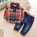 Mamimore Roupa Dos Miúdos Meninos Roupas Set 2016 Crianças Roupas de Inverno Meninos Roupas 2 Pcs Terno roupas infantis menino