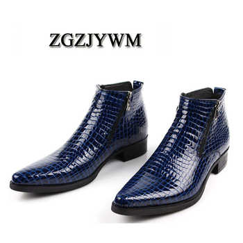 ZGZJYWM New cowhide Genuine Soft Leather Pointed Toe Breathable Bullock Patterns Oxford Dress Shoes For Men Boots - DISCOUNT ITEM  43% OFF All Category