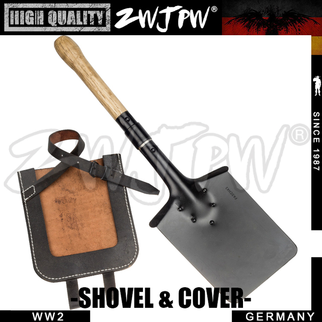GERMAN Outdoor Camping Tool Camping Hiking Shovel AND COVER REPLICA