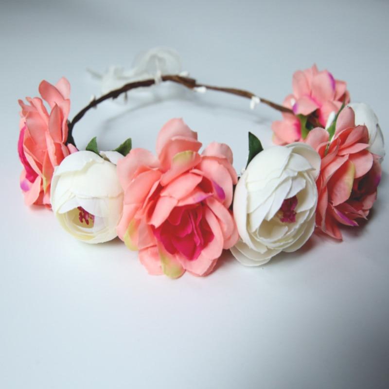 Emulasi Bunga Sabuk Pantai Kepala Ring Euramerican Populer Mawar Merah Bridal Garland Ring Pantai Wisata Yang Indah Karangan Bunga Karangan Bunga Aliexpress