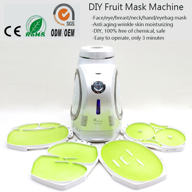 Automatically 6 IN 1 Multifunction Natural Fruit Vegetable Collagen DIY Fruit Mask Machine For Face/Eye/Hand/Breast/Foot/Neck 1 set professional face care diy homemade fruit vegetable crystal collagen powder facial mask maker machine skin whitening
