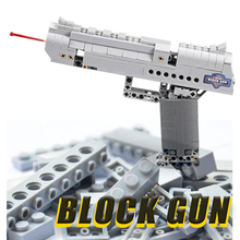 DIY Military Building Blocks 307pcs Toy Gun Airsoft Pistol With Bullet Assembly Kid Boys Gift Outdoor Game Model Building Blocks
