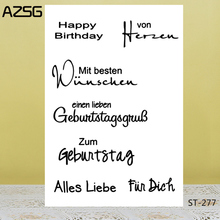 AZSG Happy Easter Clear Stamps For DIY Scrapbooking/Card Making/Album Decorative Silicon Stamp Crafts