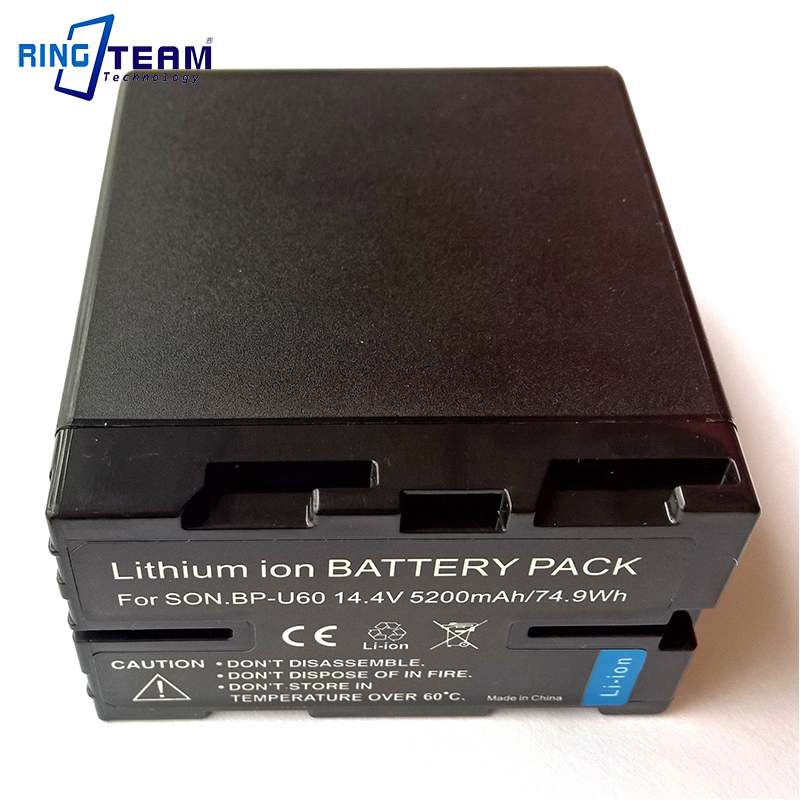 Replacement Decoded Sony Battery BP-U60 BPU60 Fit to Sony PMW-EX1 PMW-EX3