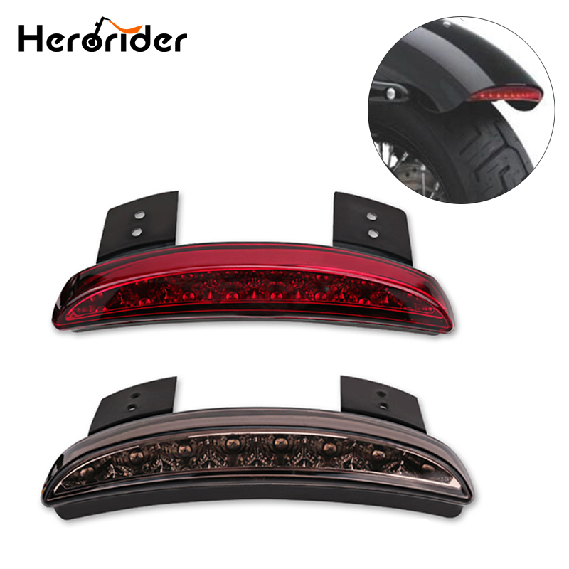 Motorcycle Led Tail Light Lamps Motor Cafe Racer Rear Fender Edge Brake Taillight For Harley Touring Sportster Xl 883 1200 Back To Search Resultshome