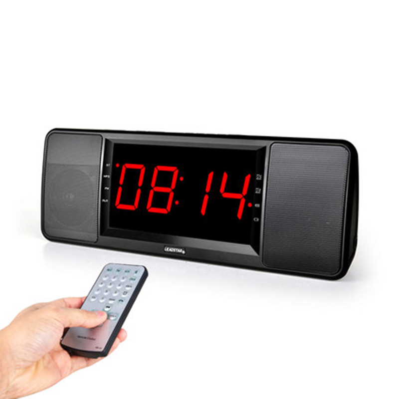 5w digital radio fm receiver bluetooth speaker with remote control alarm clock fm stereo. Black Bedroom Furniture Sets. Home Design Ideas