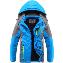 Winter Thicken Children Outerwear Warm Coat Sporty Kids Clothes Double-deck Waterproof Windproof Boys Girls Jackets For 3-14T