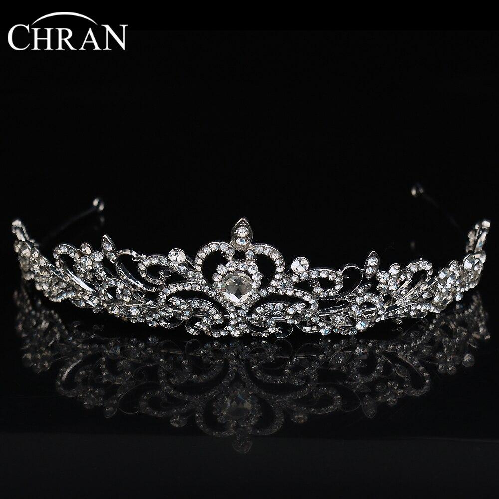 chran heart waterdrop shaped crown wedding hair