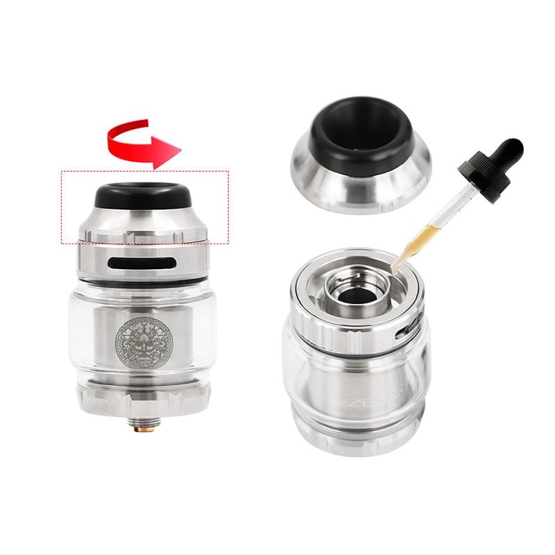 Newest Electronic Cigarette Geekvape Zeus X RTA 4.5ml tank with Delrin drip tip vape atomizer rta vs zeus rta fit aegis legend