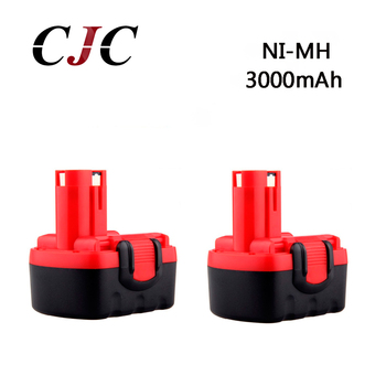 2PCS BAT038 BAT040 14.4V 3000mAh NI-MH Rechargeable Battery Pack Power Tools Battery Cordless Drill Replacement for Bosch 3660CK