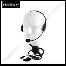 Military Bone Conduction Tactical Headphone Headset with boom mic  for Motorola GP88 GP300 CP040 two way radio