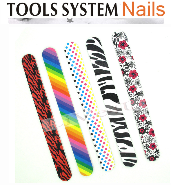 Free Shipping Nail File Buffer nail art tool, Double Sided Nail files 180, EVA material, Printed sponge nail file, 4UNL71