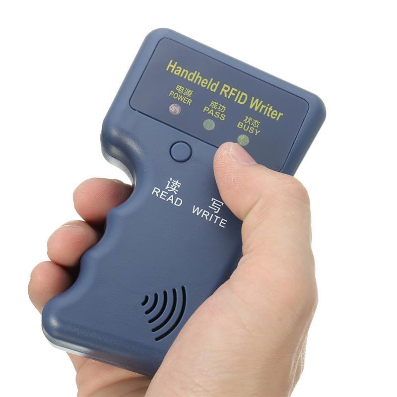 bilder für 125 KHz H-ID RFID Cloner Duplizierer Karte Copier Leser Schriftsteller + 5 Stücke T5577 Beschreibbare Token Fernbedienungen Zugangskontrolle