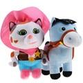Salvaje Oeste 25 cm Vaquero Callie Sheriff Callie Gato 20 cm Pony caballo de Felpa Muñeca de Juguete Animales de Peluche Juguetes Regalos de La Venta Caliente 2 unids/lote