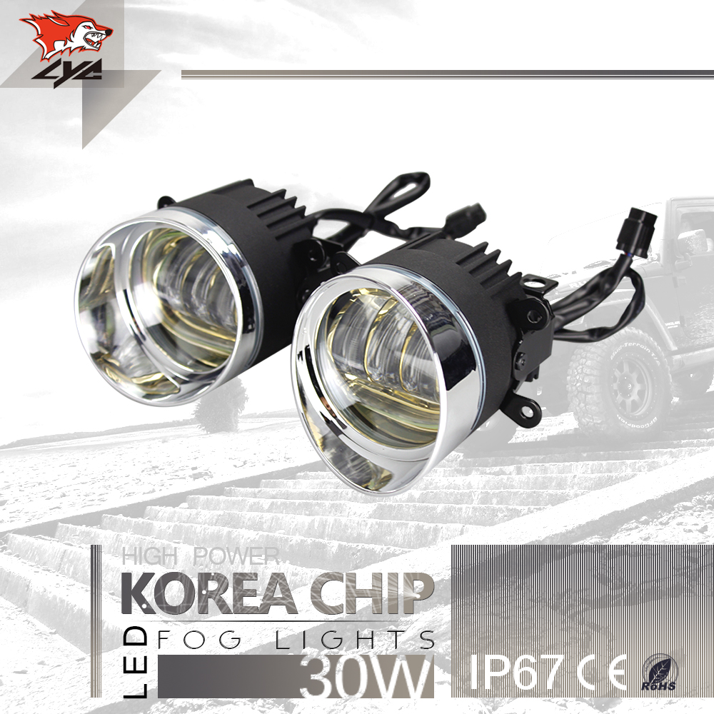LYC Led Car Lights Exterior Daytime Leds DRL Light For Toyota Engine Light Fog Lamp For Jeep Wrangle For NISSAN 3000k/6000k lyc 6000k led daylight for citroen c4 for nissan led headlights 12v car led lights ip 68 chips offroad work light 40w
