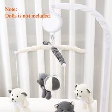 Piosenka obrotowy dzwonek do łóżka pilot zabawka 35 piosenek dla dzieci obrotowe dziecko mobilne łóżeczko pozytywka łóżeczko zabawkowe piłki karta SD USB ładowarka