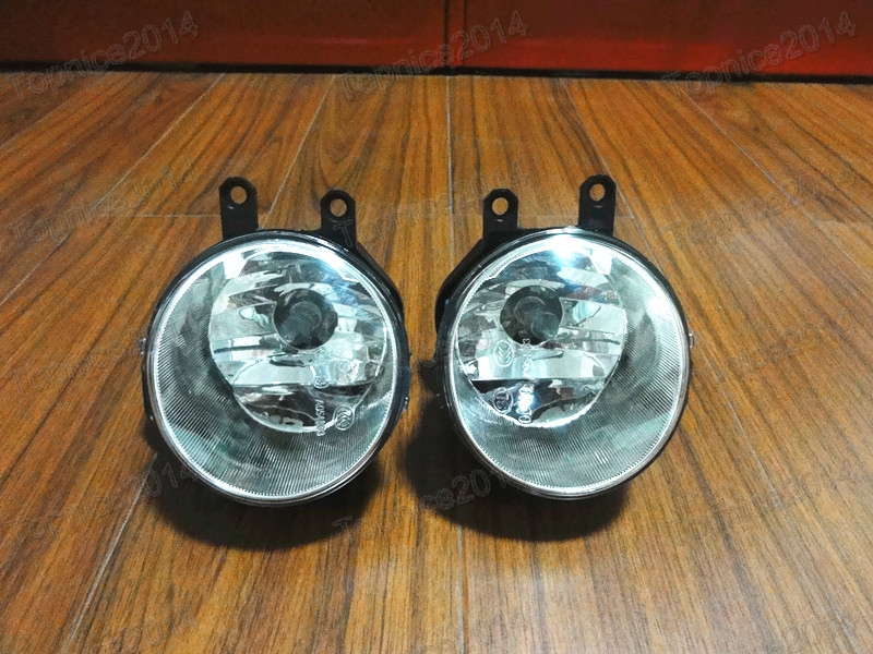 PAIR LH & RH Front Fog Lights Driving Fog Lamps Clear Lens With Bulbs For TOYOTA HIGHLANDER/KLUGER 2014-2015