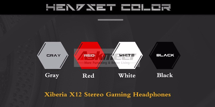 Xiberia X12 USB Gaming Headset Surround Sound Noise Canceling Luminous LED Light Over ear Headphones with Microphone for PC (2)